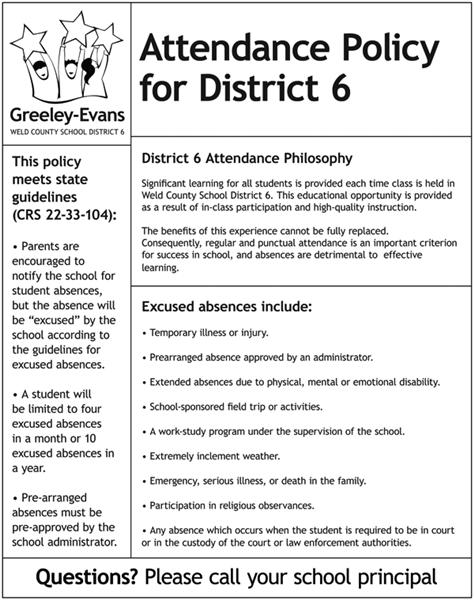 District Attendance Policy  District Attendance Policy