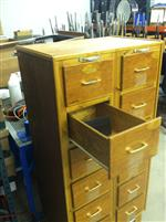wood cabinet/14 small drawers