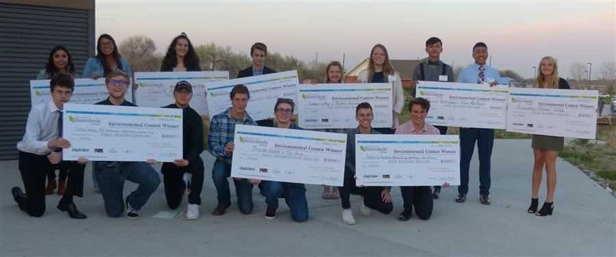 District 6 students were each awarded $1,000 to implement their watershed projects!