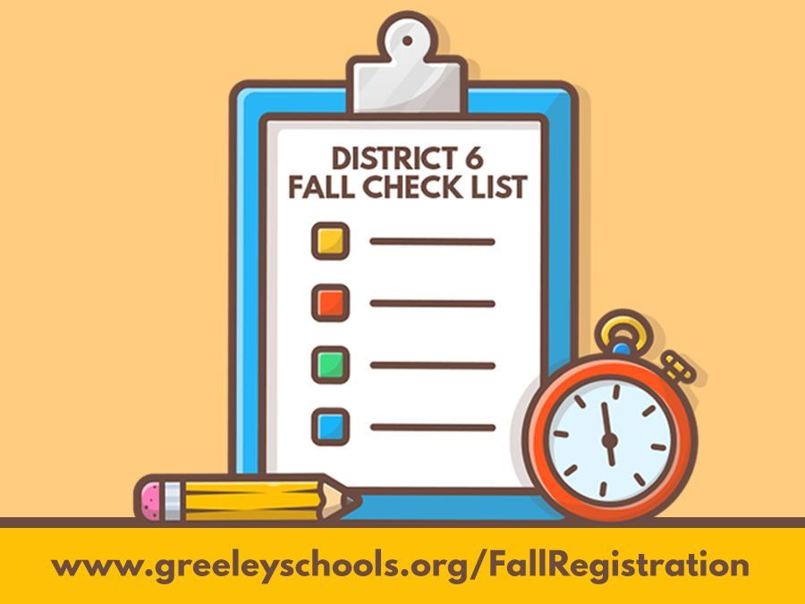 FALL REGISTRATION CHECKLIST
