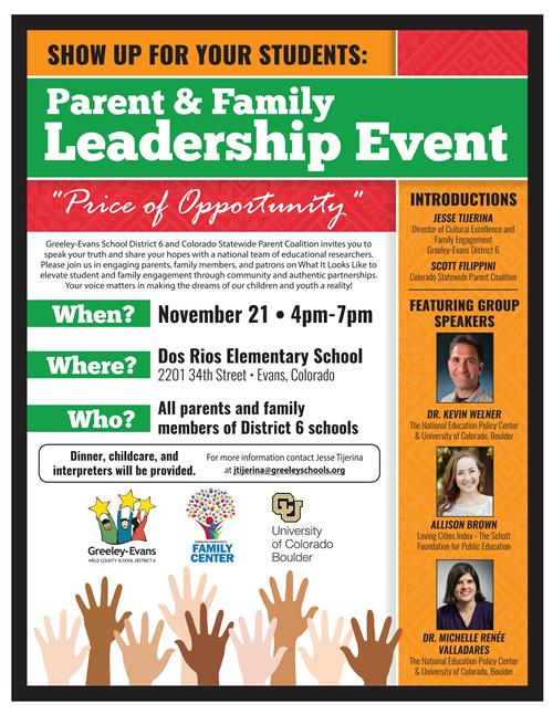 Parent & Family Leadership Event