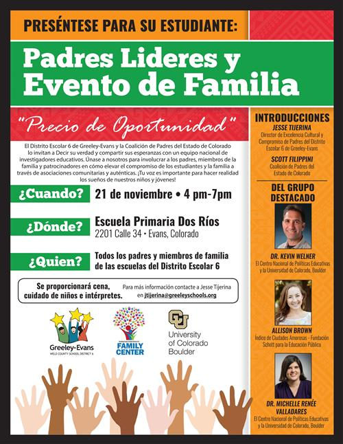 Parent & Family Leadership Event Spanish