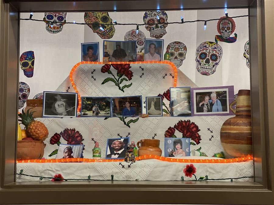 Mr. Vasquez and his class created an altar to remember and honor loved ones who have passed