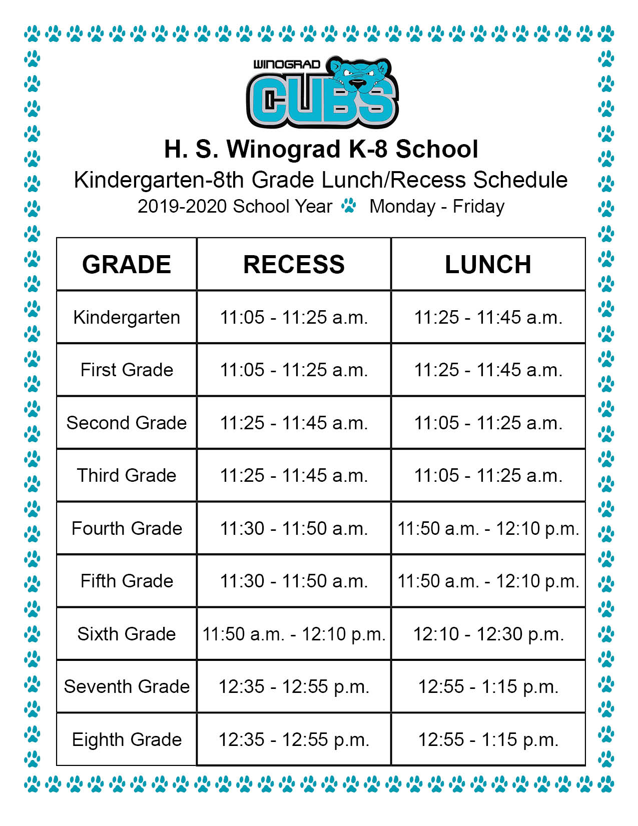 Winograd K 8 School Homepage