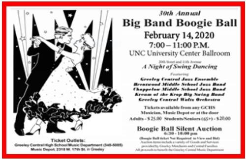 30th Annual Big Band Boogie Ball Flyer