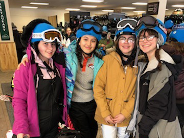 Brentwood Middle School Students in ski gear