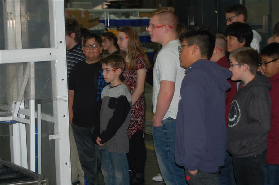 Brentwood students at Muller Technology