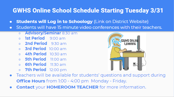 GWHS Remote Learning Schedule