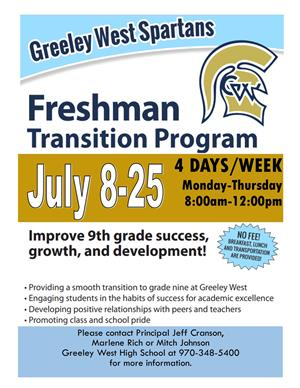 Summer transition program