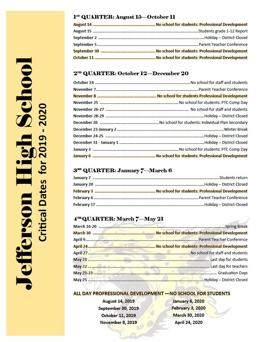 Jefferson Junior and Senior High Schools / Homepage