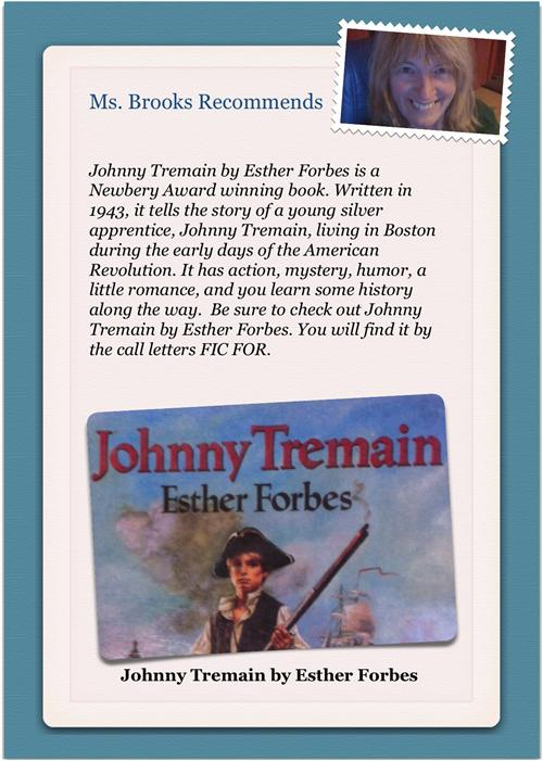 a review of the book johnny tremain While isannah sleeps, johnny tells cilla his full name: jonathan lyte tremain lyte as in merchant lyte, one of the richest men in boston he also tells her that his dead mother gave him a silver cup that proves his relationship to the lyte family but told him not to go to them unless he'd reached the end of his rope.