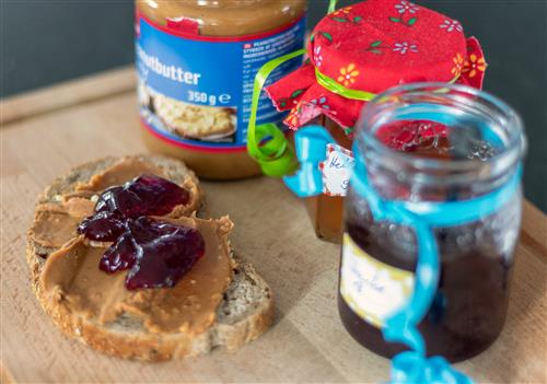 Peanut Butter and Jelly Sandwich + Ingredients