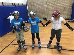 Students in Rollerskates