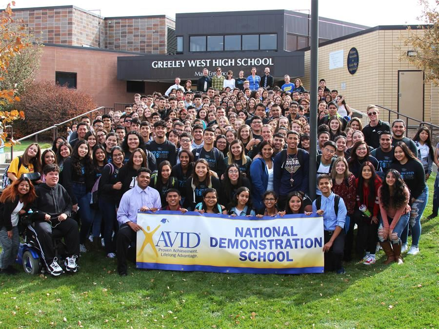 Greeley West AVID Program Group Photo 2018-2019 School Year