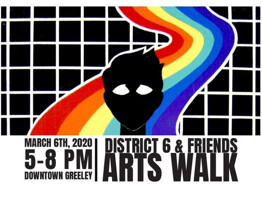 D6 and Friends Arts Walk Website Headline Graphic