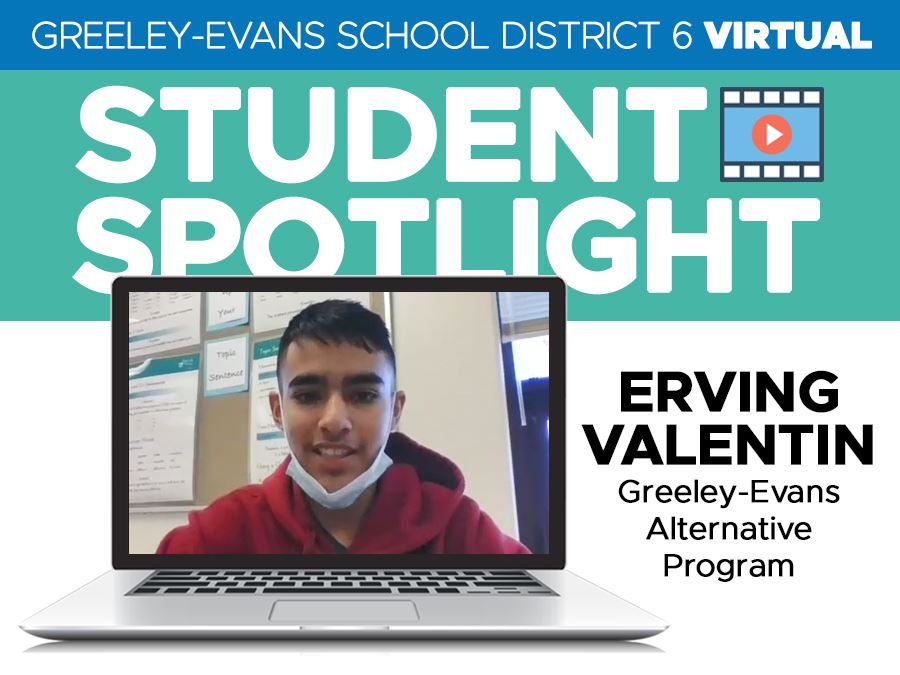 Student Spotlight: Erving Valentin, Greeley Evans Alternative Program