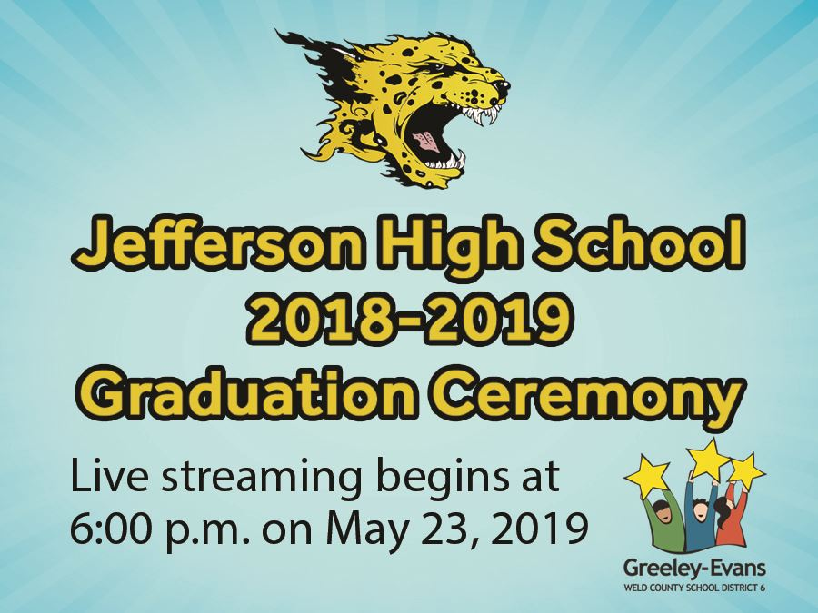 Jefferson Graduation Livestream Graphic