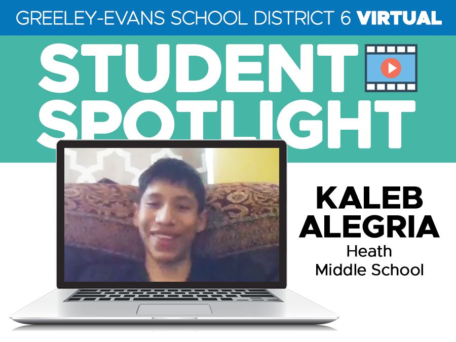 Student Spotlight Kaleb Alegria headline graphic