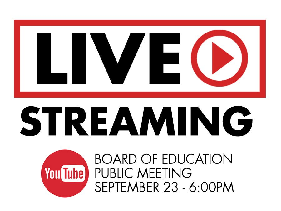 Board of Education Livestream Graphic