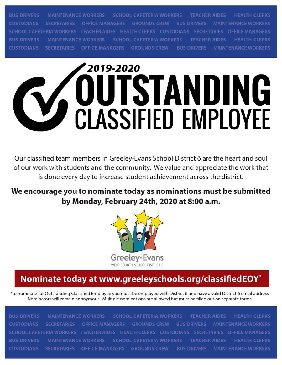 Outstanding Classified Employee