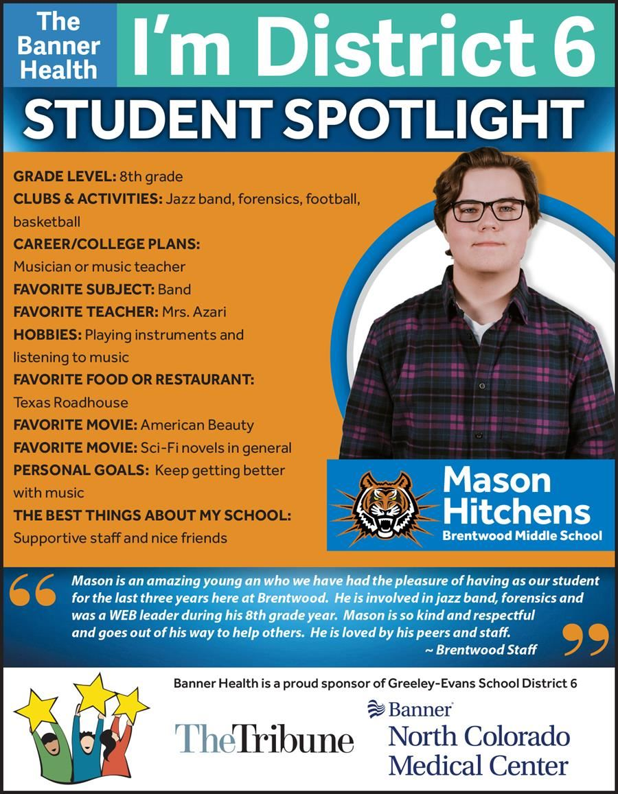 Student Spotlight - Mason Hitchens