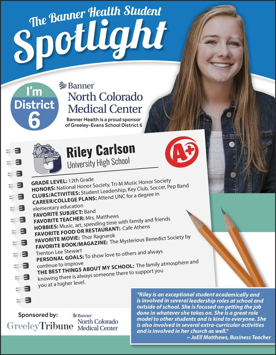Student Spotlight Riley Carlson Infographic