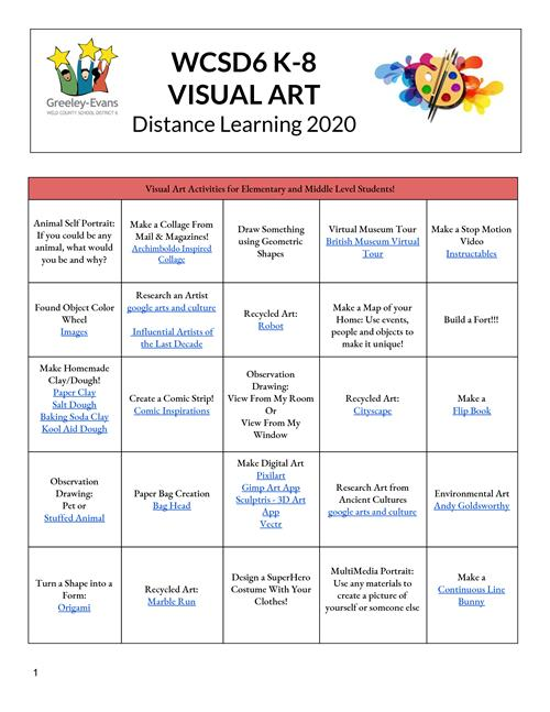 Visual Art Distance Learning