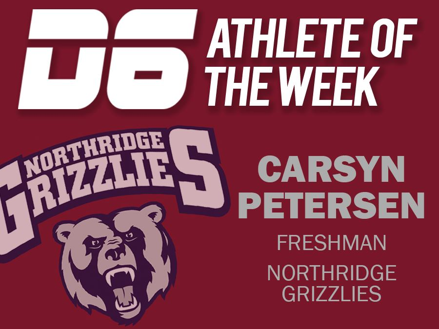 D6 Athlete of the Week Headline Graphic Carsyn Petersen