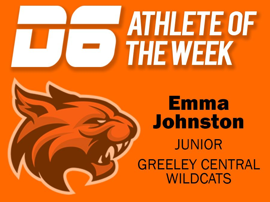 D6 Athlete of the Week Emma Johnston Greeley Central High School Headline Graphic