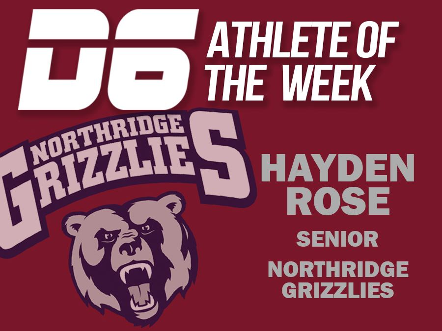 Athlete of the Week Hayden Rose Graphic