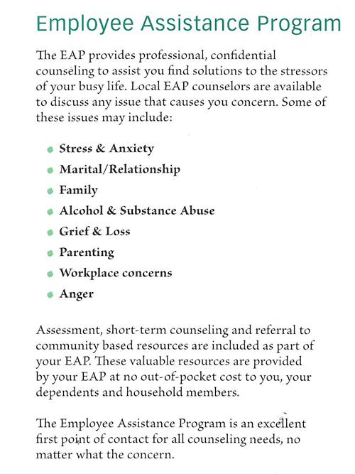 human resources    employee assistance program  eap