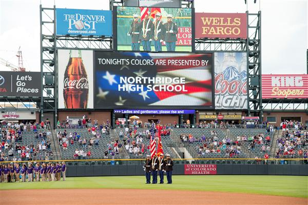 Colorado Rockies Color Guard