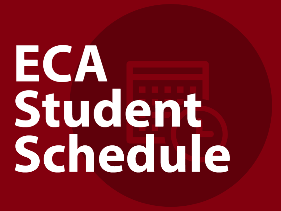 ECA Student Schedule Headline Graphic