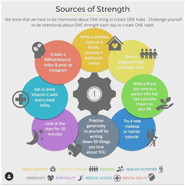 Sources of Strength informational Graphic