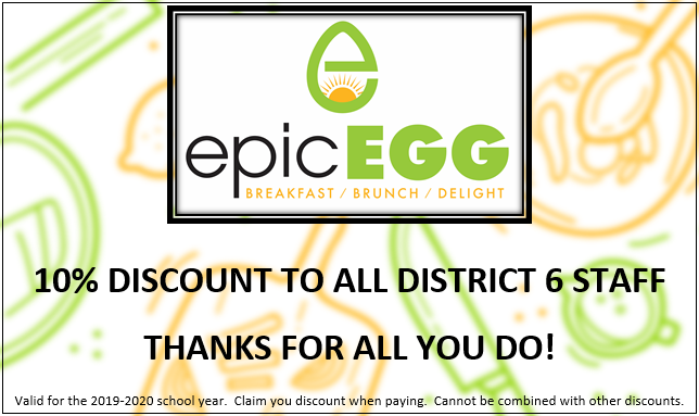 Epic Egg 10% Discount for D6 Staff