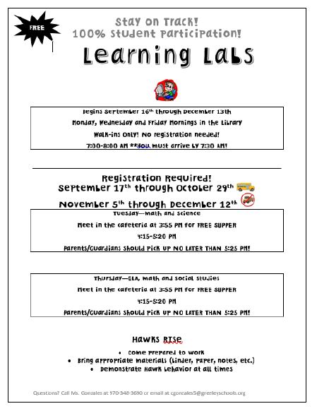 Learning Lab hours 19-20
