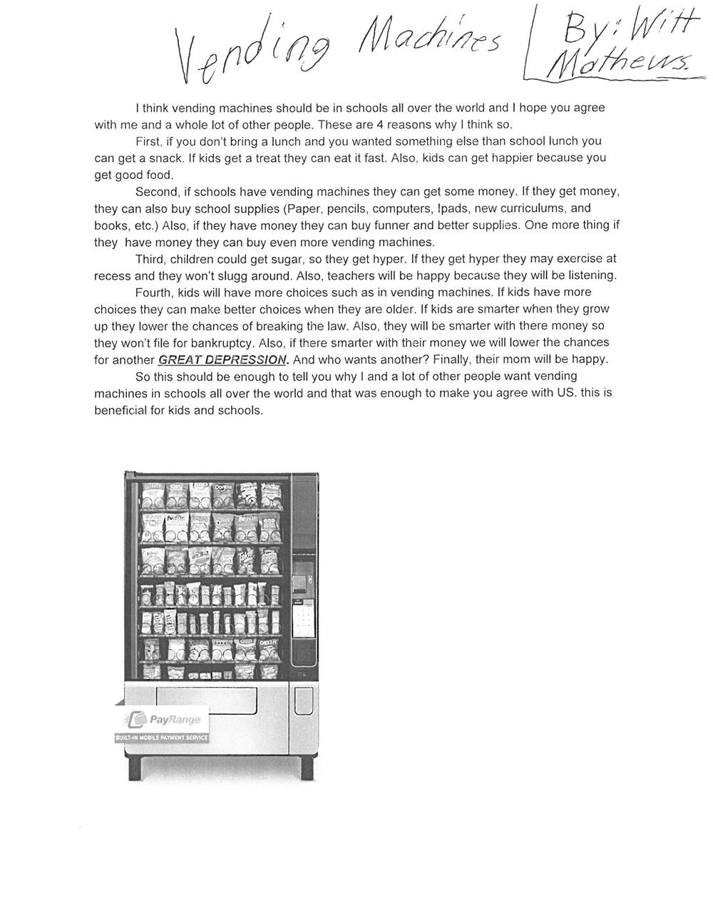 Blake, Cecilia - 4th Grade / Persuasive Paragraphs Photo Gallery