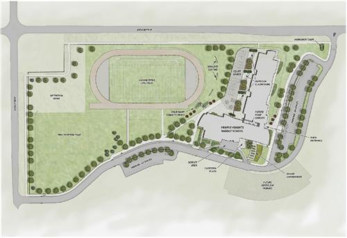 Prairie Heights Middle School grounds layout