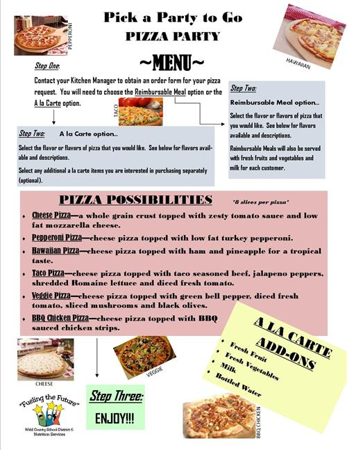 District 6 nutrition services has a healthy pizza party program